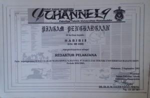 Channel 09 Redaktur Pelaksana